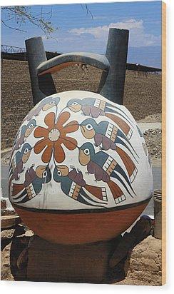 Wood Print featuring the photograph Nazca Ceramics Peru by Aidan Moran