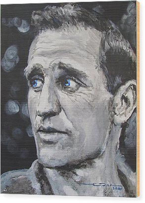 Neal Cassady - On The Road Wood Print by Eric Dee