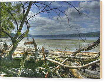Near Port Gamble Wood Print