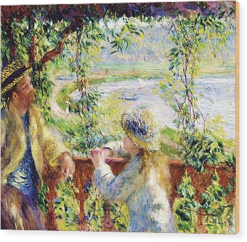 Near The Lake Wood Print by Pg Reproductions