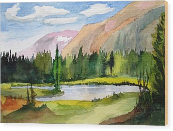Near Two Medicine Montana Wood Print by Larry Hamilton