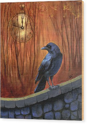 Wood Print featuring the painting Nearing Midnight by Terry Webb Harshman