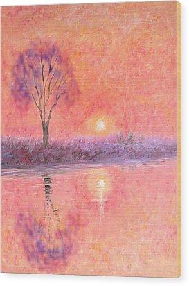 Wood Print featuring the digital art Nearly Twilight by Elizabeth Lock