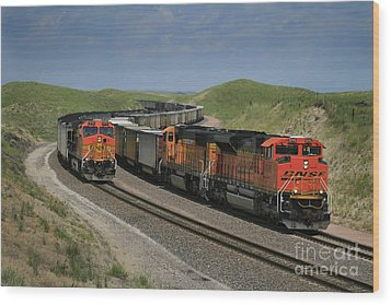 Nebraska Coal Trains Wood Print