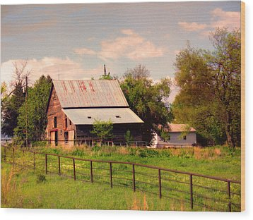 Nebraska In The Summer Afternoon Wood Print by Tyler Robbins