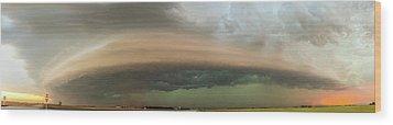 Nebraska Thunderstorm Eye Candy 020 Wood Print