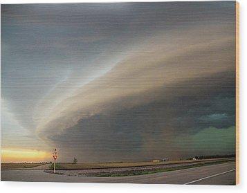 Nebraska Thunderstorm Eye Candy 026 Wood Print