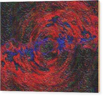 Wood Print featuring the digital art Nebula 1 by Charmaine Zoe