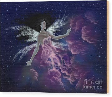 Wood Print featuring the painting Nebula by Amyla Silverflame