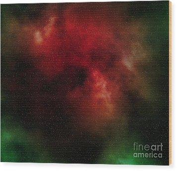 Nebula Wood Print by Michal Boubin
