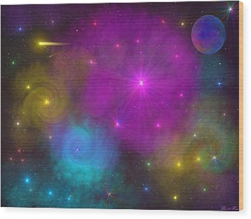 Wood Print featuring the photograph Nebula Wars by Bernd Hau