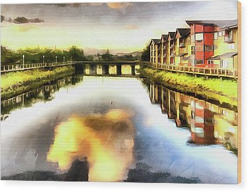 Wood Print featuring the photograph Necanium River Seaside by Thom Zehrfeld