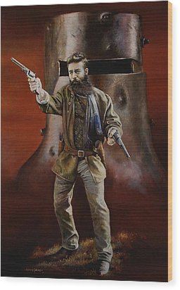 Ned Kelly Wood Print by Chris Collingwood