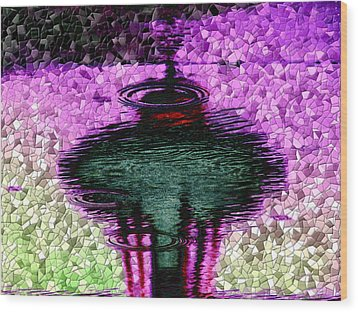 Needle In A Raindrop Stack 3 Wood Print by Tim Allen