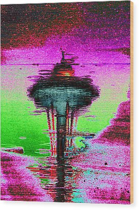 Needle In A Raindrop Stack Wood Print by Tim Allen