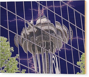 Needle Reflection Wood Print by Tim Allen