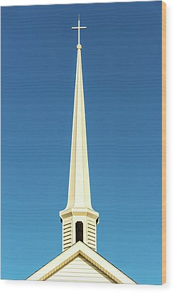 Wood Print featuring the photograph Needle-shaped Steeple by Onyonet  Photo Studios