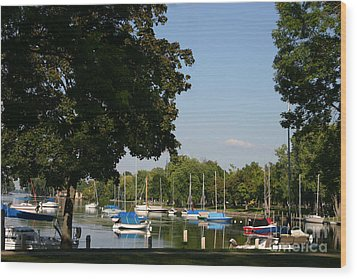 Neenah Harbor Wood Print by Jack G  Brauer