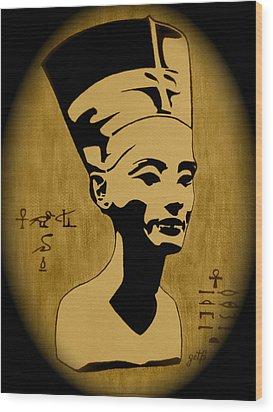 Nefertiti Egyptian Queen Wood Print by Georgeta  Blanaru