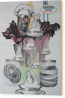 Negative Genesis Wood Print by Mag Nus