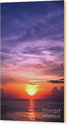 Negril Sunset Wood Print
