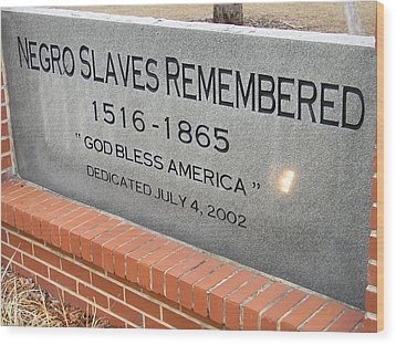 Negro Slaves Remembered Wood Print by Warren Thompson