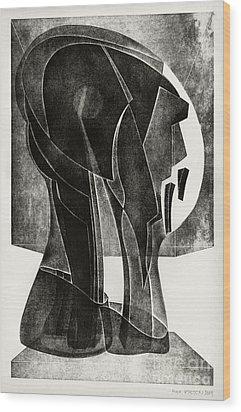 Neil Armstrong Wood Print by Alex Kveton