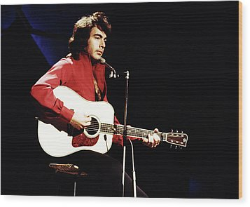 Wood Print featuring the photograph Neil Diamond 1971 by Chris Walter