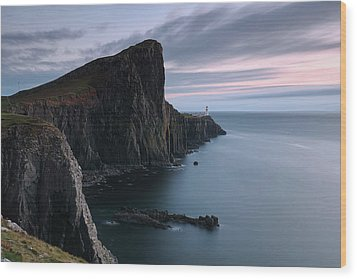 Wood Print featuring the photograph Neist Point Sunset - Isle Of Skye by Grant Glendinning
