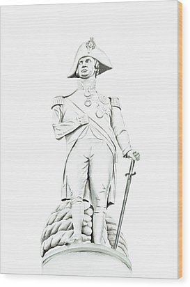 Wood Print featuring the painting Nelson by Elizabeth Lock