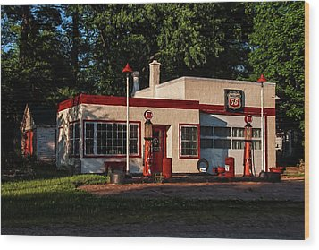 Nelsonville Phillips 66 Wood Print