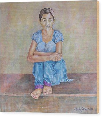 Nepal Girl 4 Wood Print