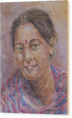 Nepal Girl 6 Wood Print