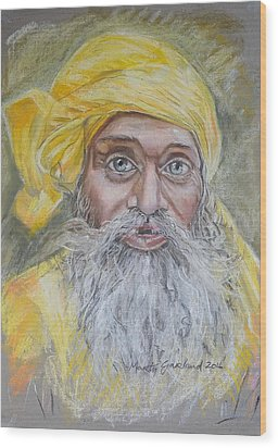 Nepal Man 6 Wood Print