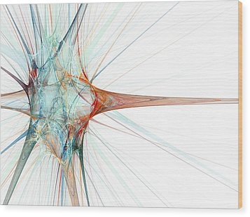 Nerve Cell, Abstract Artwork Wood Print by Laguna Design