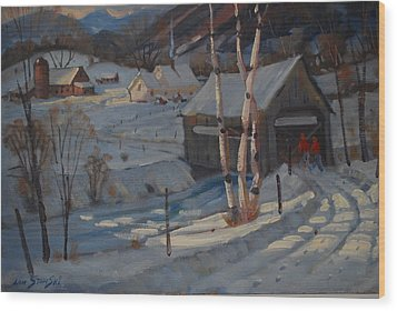 Nestled In The Berkshires Wood Print by Len Stomski