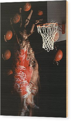 Net Fever Wood Print