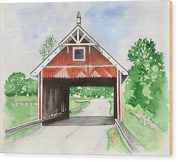 Netcher Road Bridge Wood Print