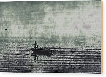 Wood Print featuring the photograph Netherworld Lake by Steven Huszar