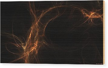 Neuron Highway Wood Print by Shan Peck