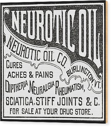 Neurotic Vintage Ad Wood Print by Marianne Dow