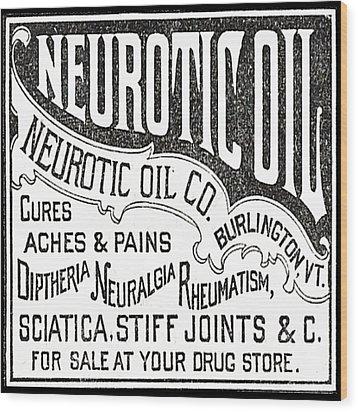 Neurotic Vintage Ad Wood Print