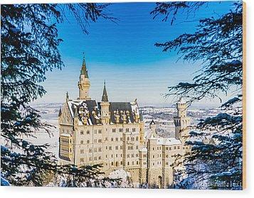 Neuschwanstein Castle Wood Print by Alpha Wanderlust