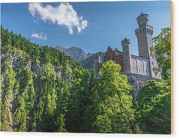 Wood Print featuring the photograph Neuschwanstein Castle by David Morefield