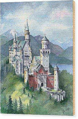 Neuschwanstein Wood Print by Jean White