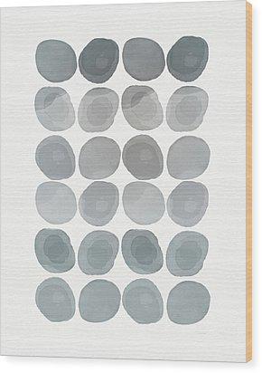 Neutral Stones- Art By Linda Woods Wood Print by Linda Woods