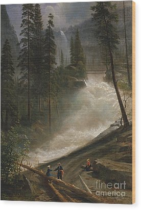 Wood Print featuring the photograph Nevada Falls Yosemite                                by John Stephens