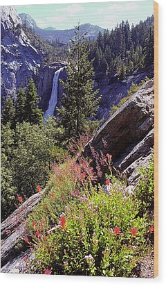 Nevada Falls Yosemite National Park Wood Print