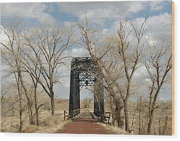 Nevada Railroad Bridge Wood Print