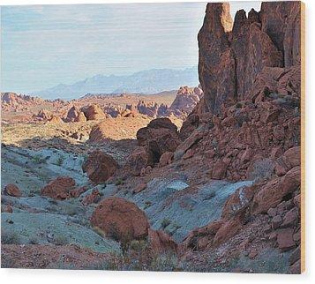 Nevada Rocks 11 Wood Print